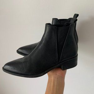 Steve Madden Booties - Black Leather, US 6.5